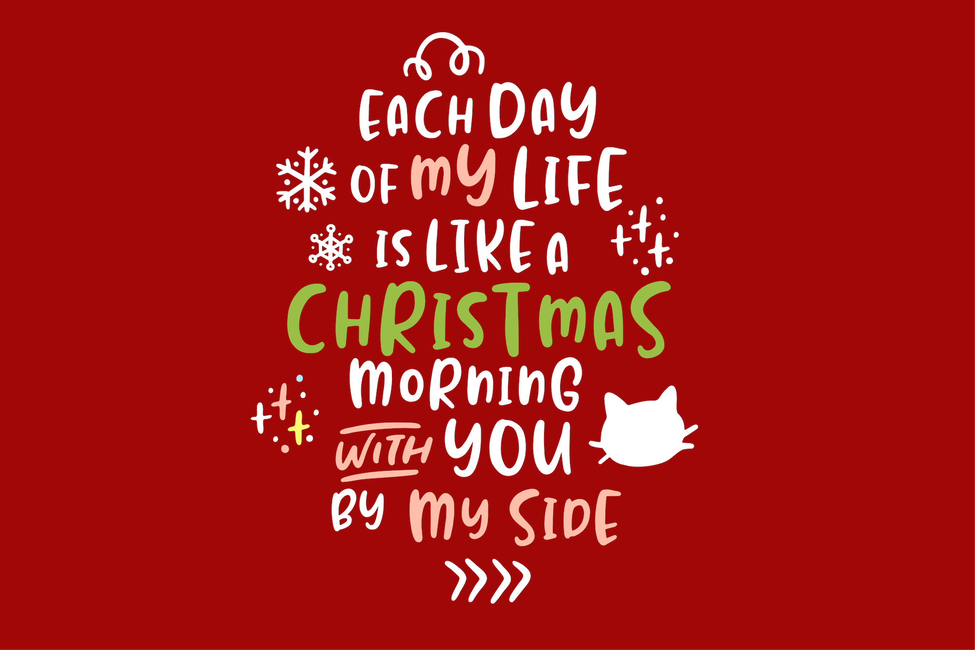 Jealous Kitty - Christmas Happy Font example image 4