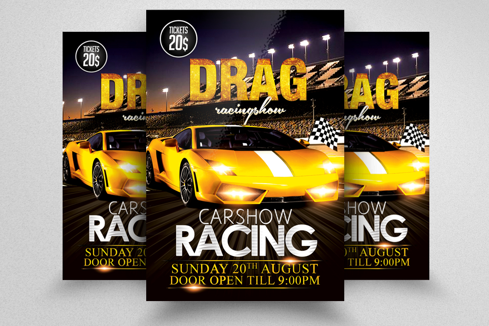 Car Racing Flyer Template  example image 1