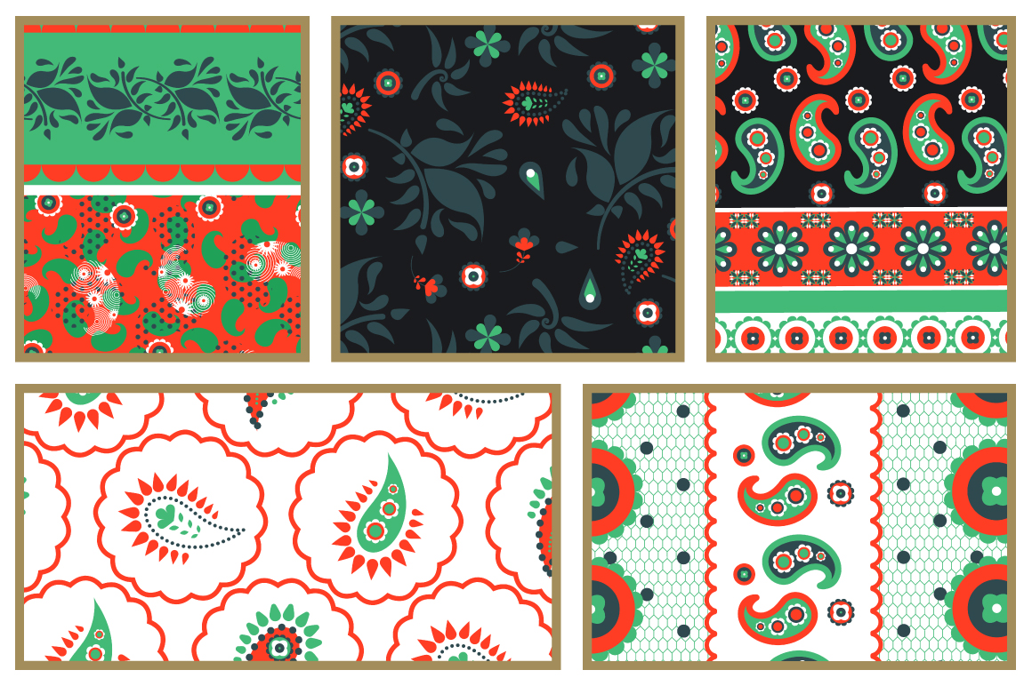 Indian Bazaar Seamless Patterns example image 11