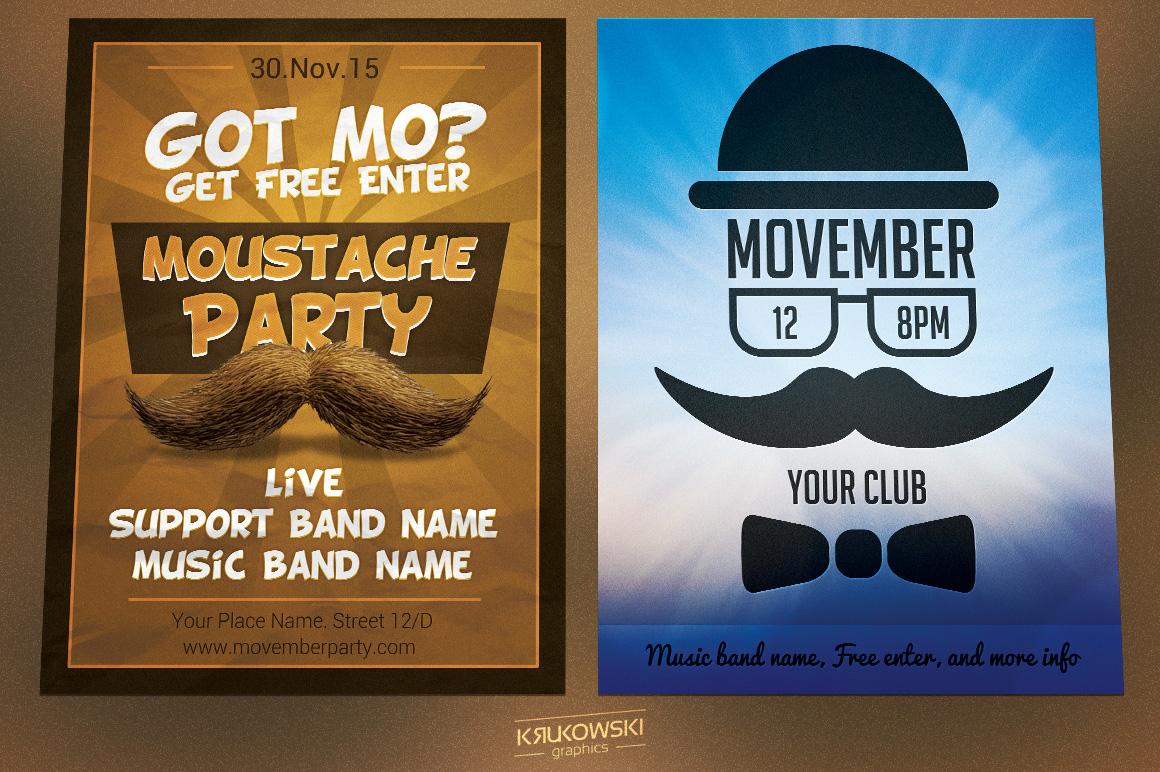 Movember Flyers Bundle example image 2