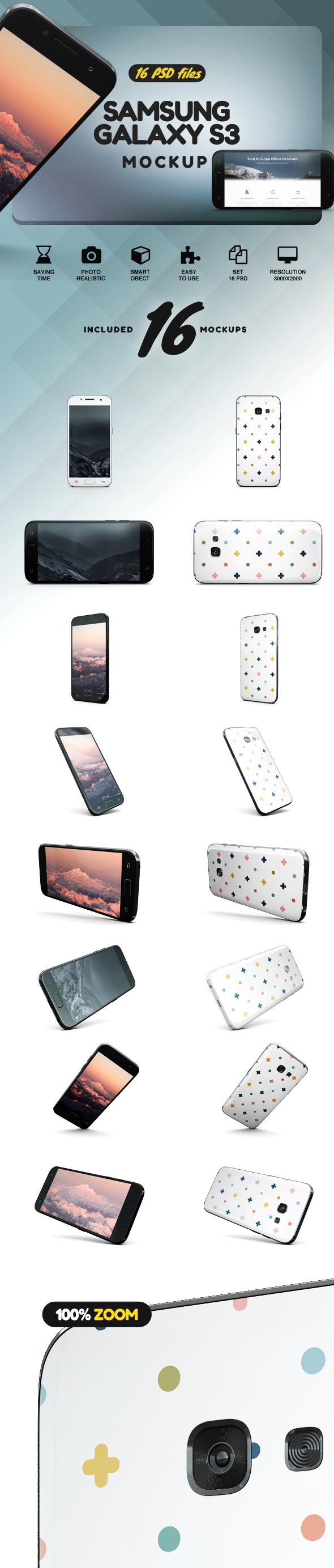 Samsung Galaxy s3 Mockup example image 2