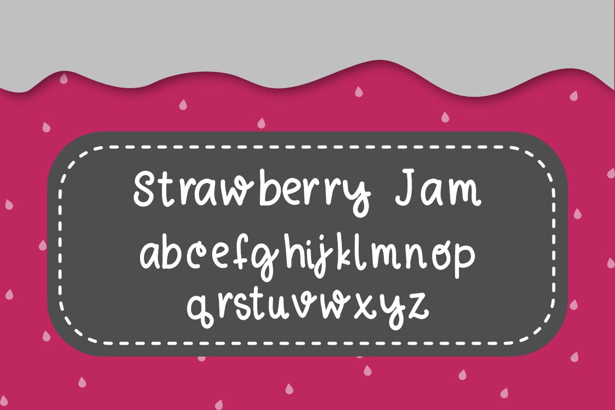 Strawberry Jam Font example image 3