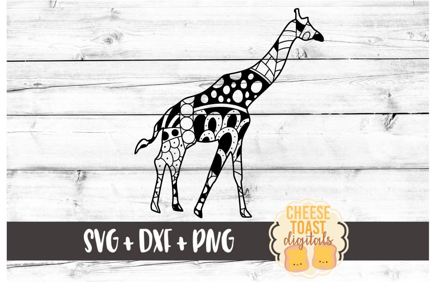 Giraffe - Zen Doodle Art - Animal SVG PNG DXF Files example image 2