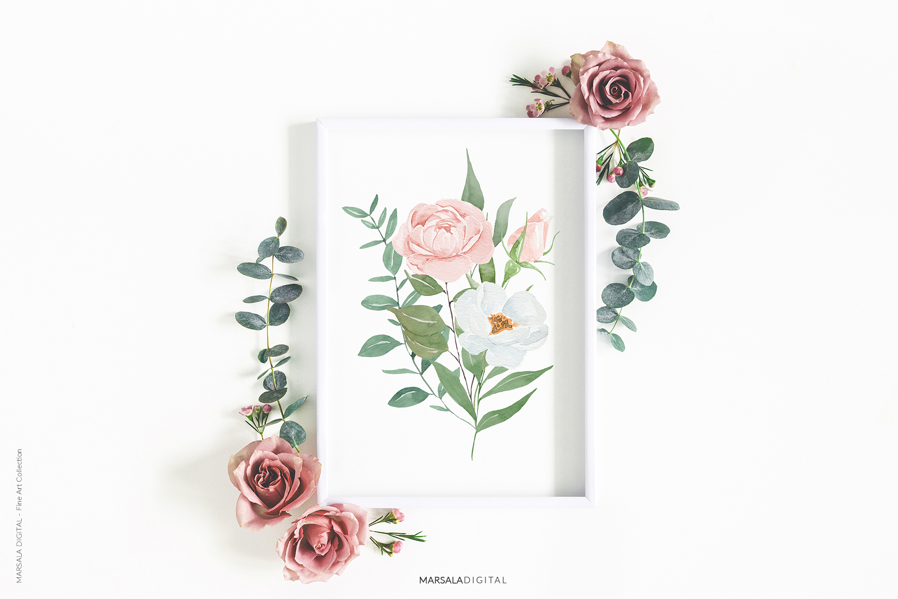 Watercolor Flowers Watercolor Florals Peach & White example image 19