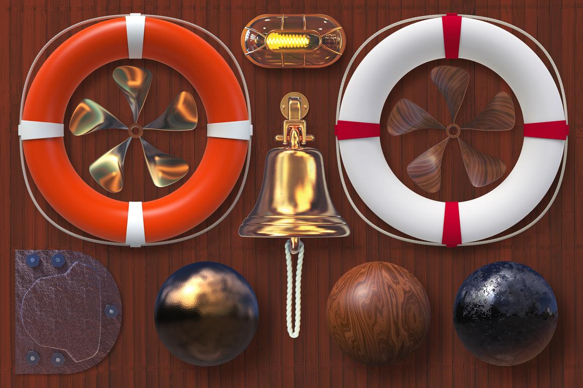 Isolated Nautical Items example image 5