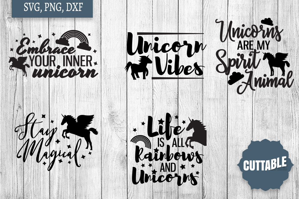Unicorn cut file Bundle, Unicorn quote SVGs, Magical SVGs example image 2