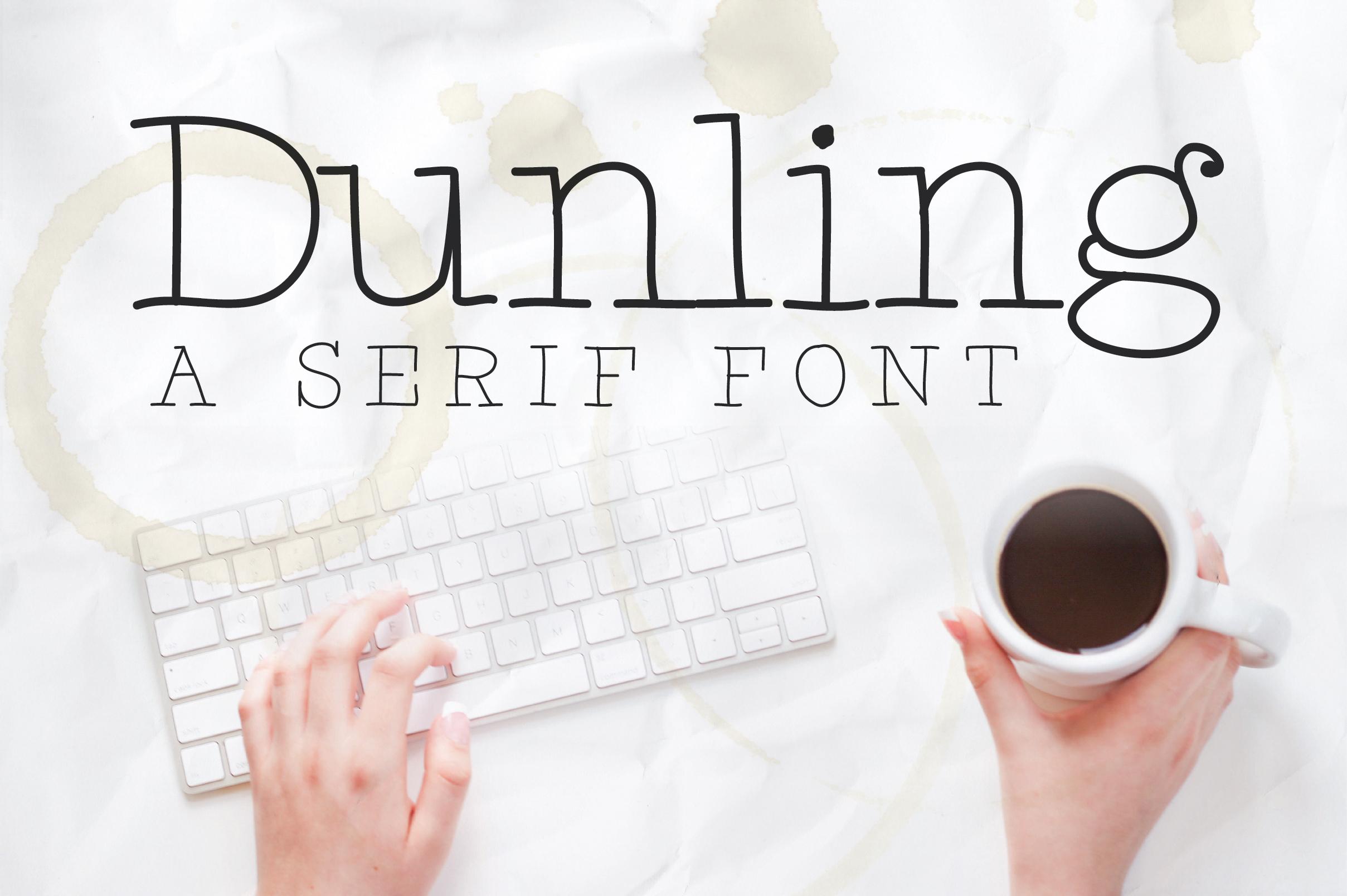 Dunling: A Handmade Serif Font example image 1