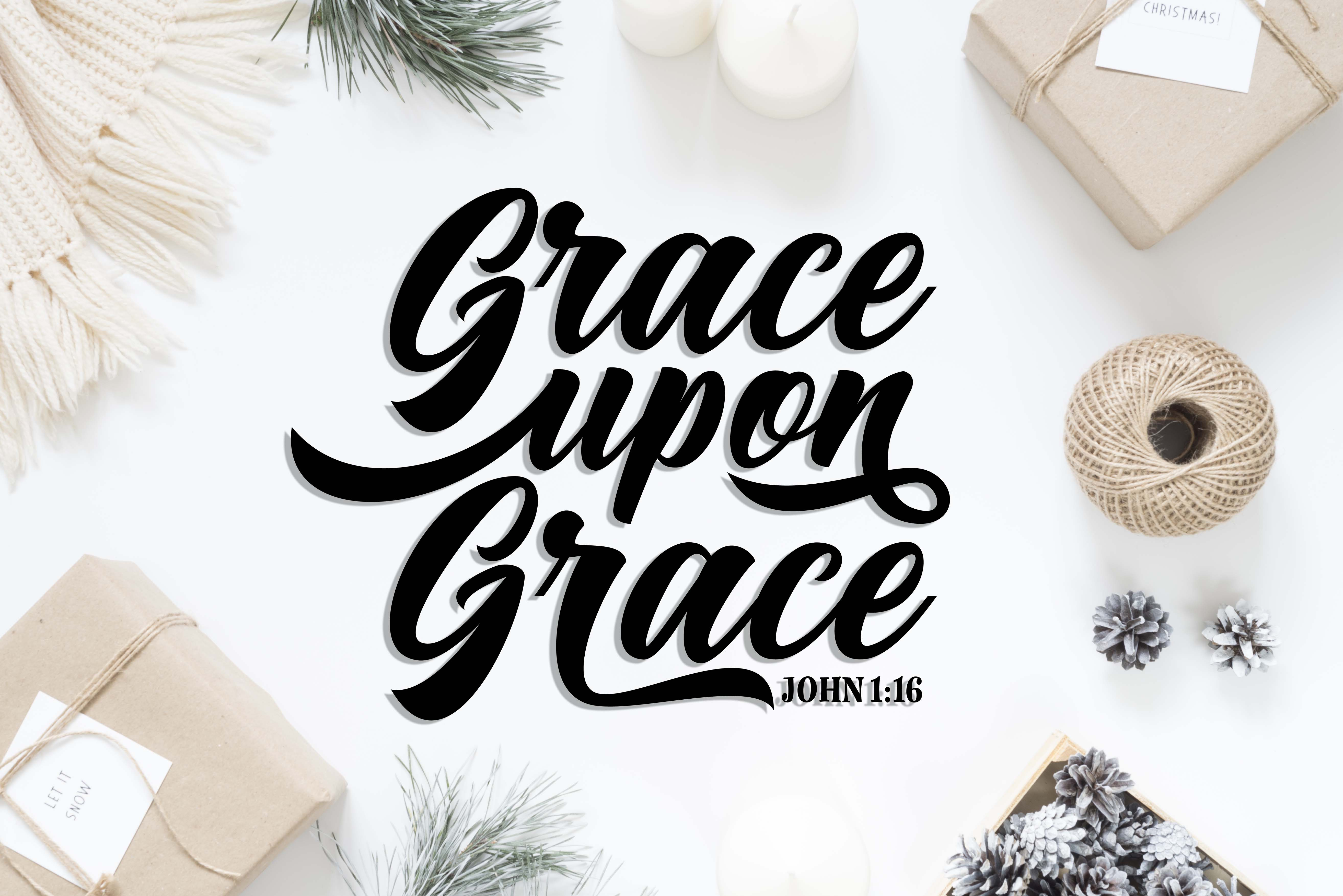 Grace upon Grace SVG DXF PNG EPS example image 2