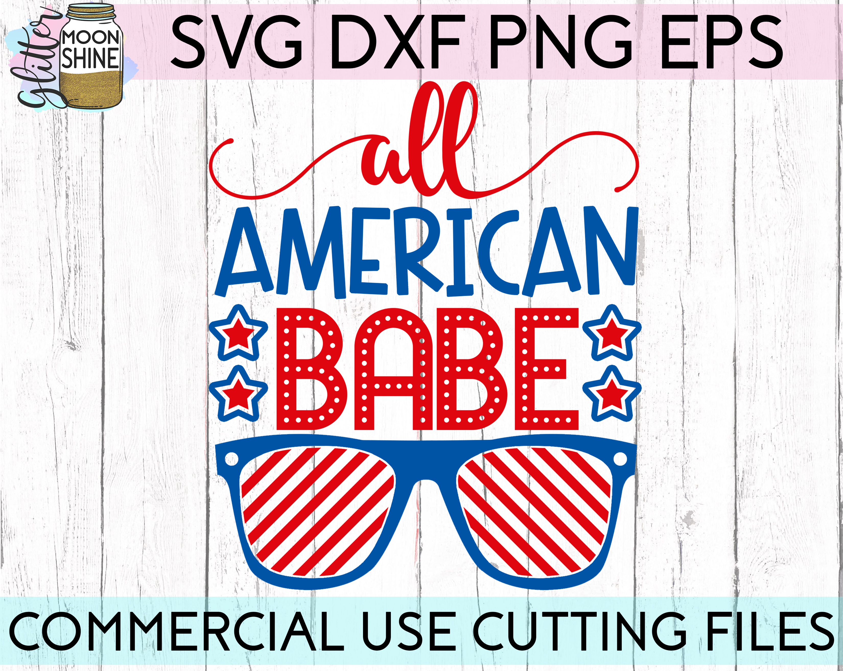 Huge 4th Of July Design Bundle of 23 SVG DXF PNG EPS Cutting Files example image 7
