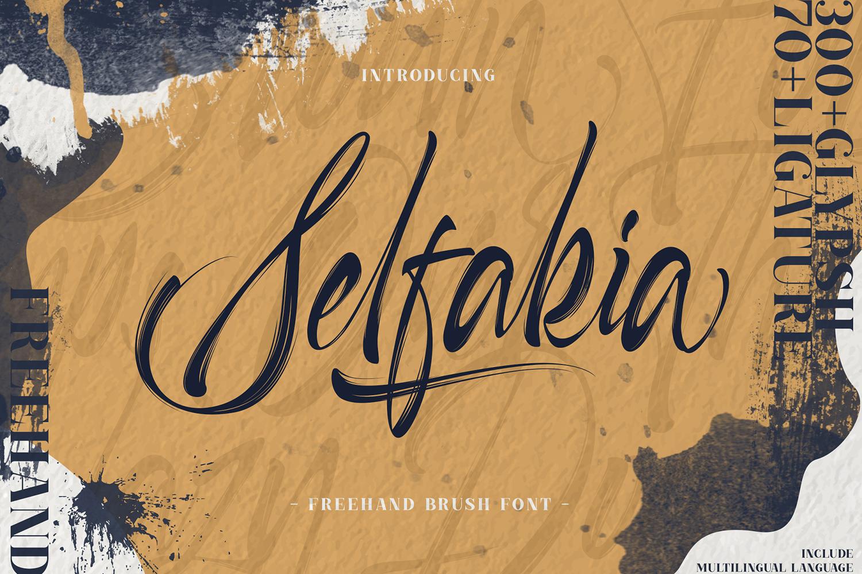 Selfakia Brush Font example image 1