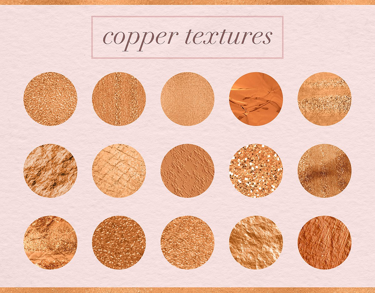 Luxury Copper Textures example image 2