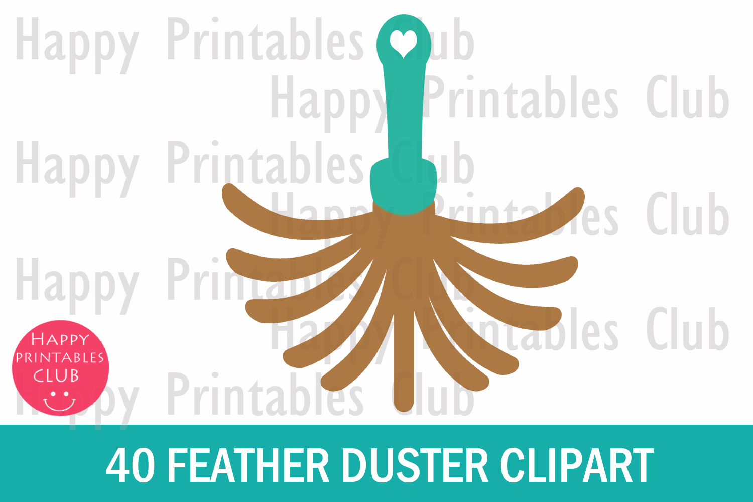 40 Feather Duster Clipart- Duster Clipart- Dust Cleaner PNG example image 2