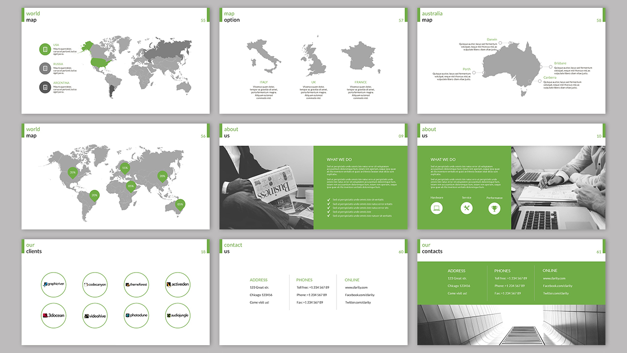 Clarity Company Minimal PowerPoint Template example image 3
