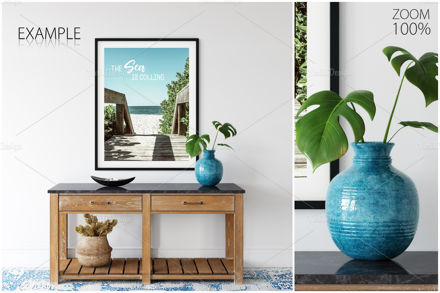 Frames & Walls Coastal Mockups Bundle example image 10