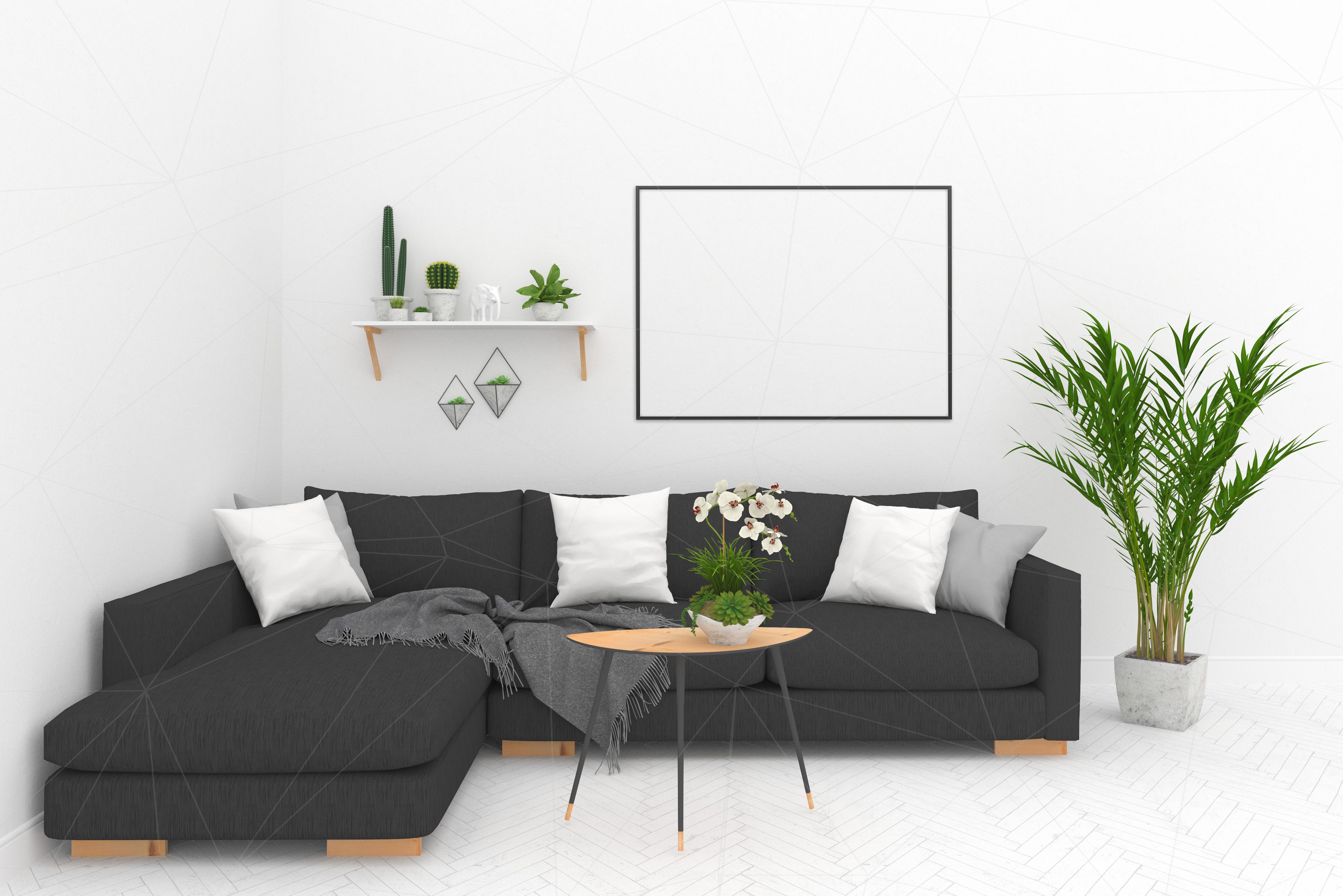 Interior mockup - blank wall mock up example image 3