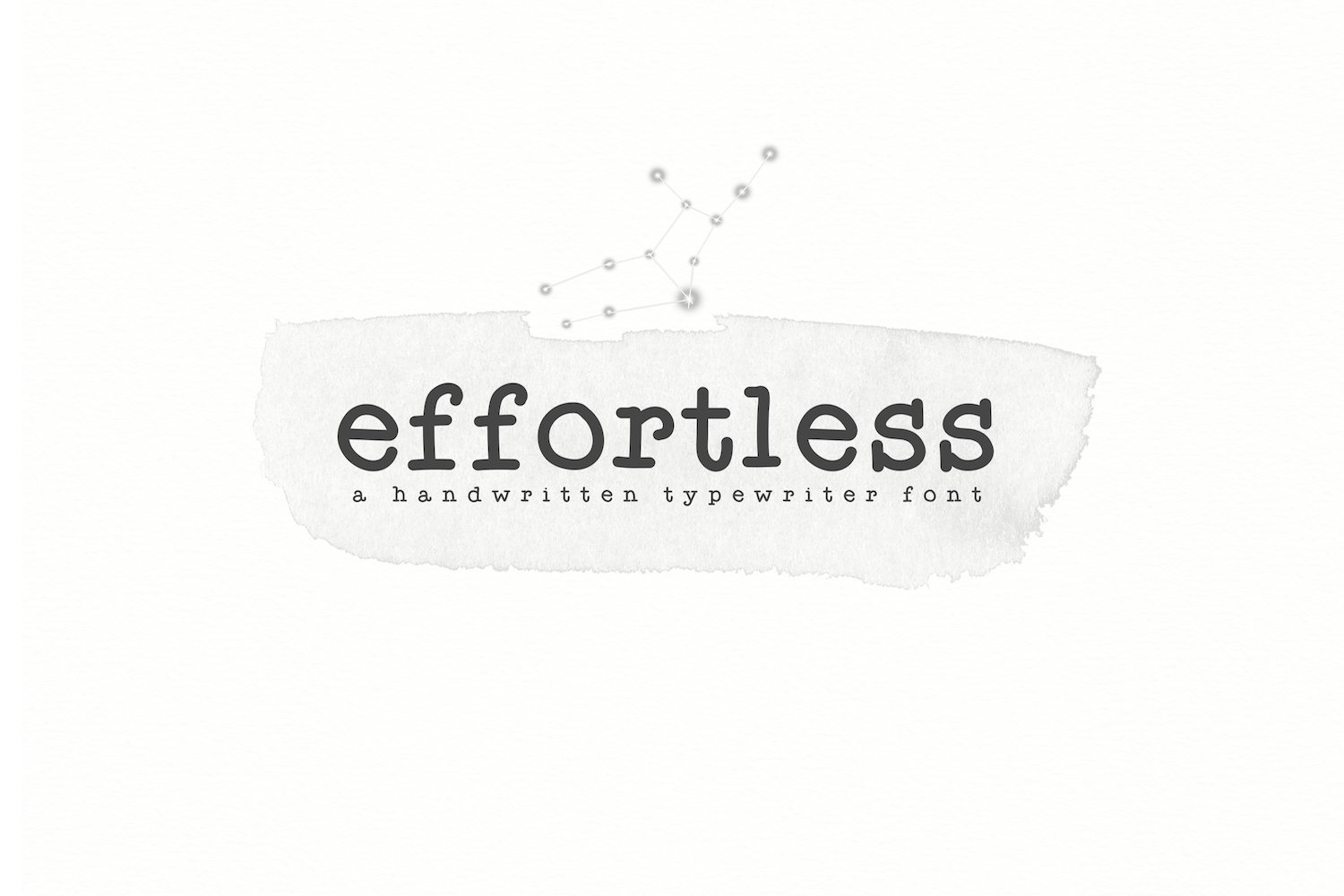 Effortless - A Typewriter Font example image 1