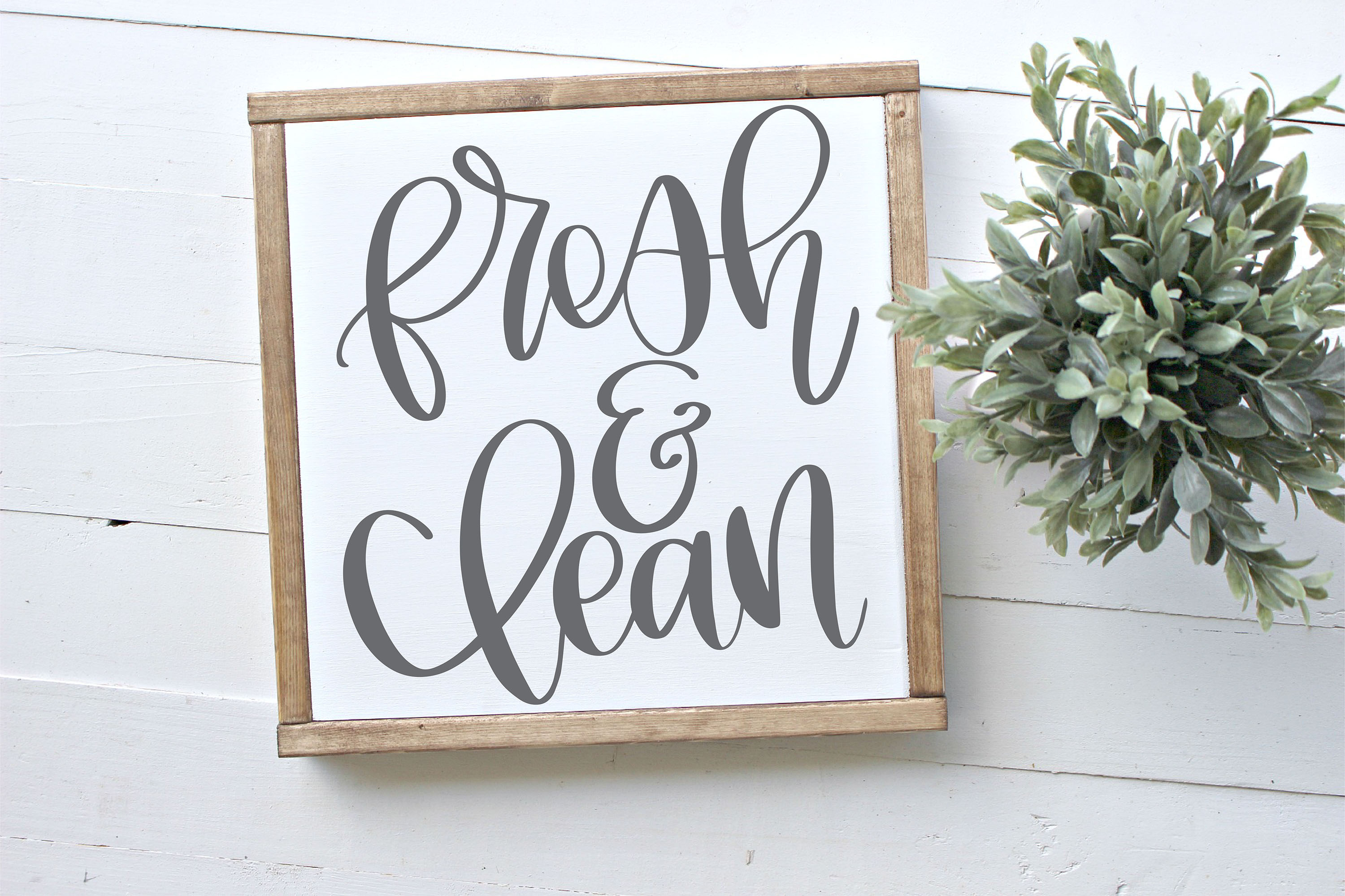 Fresh & Clean Hand Lettered SVG example image 1