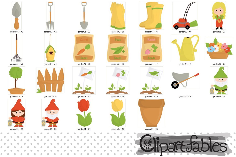 Garden clipart, nice gardening clip art - INSTANT download example image 2
