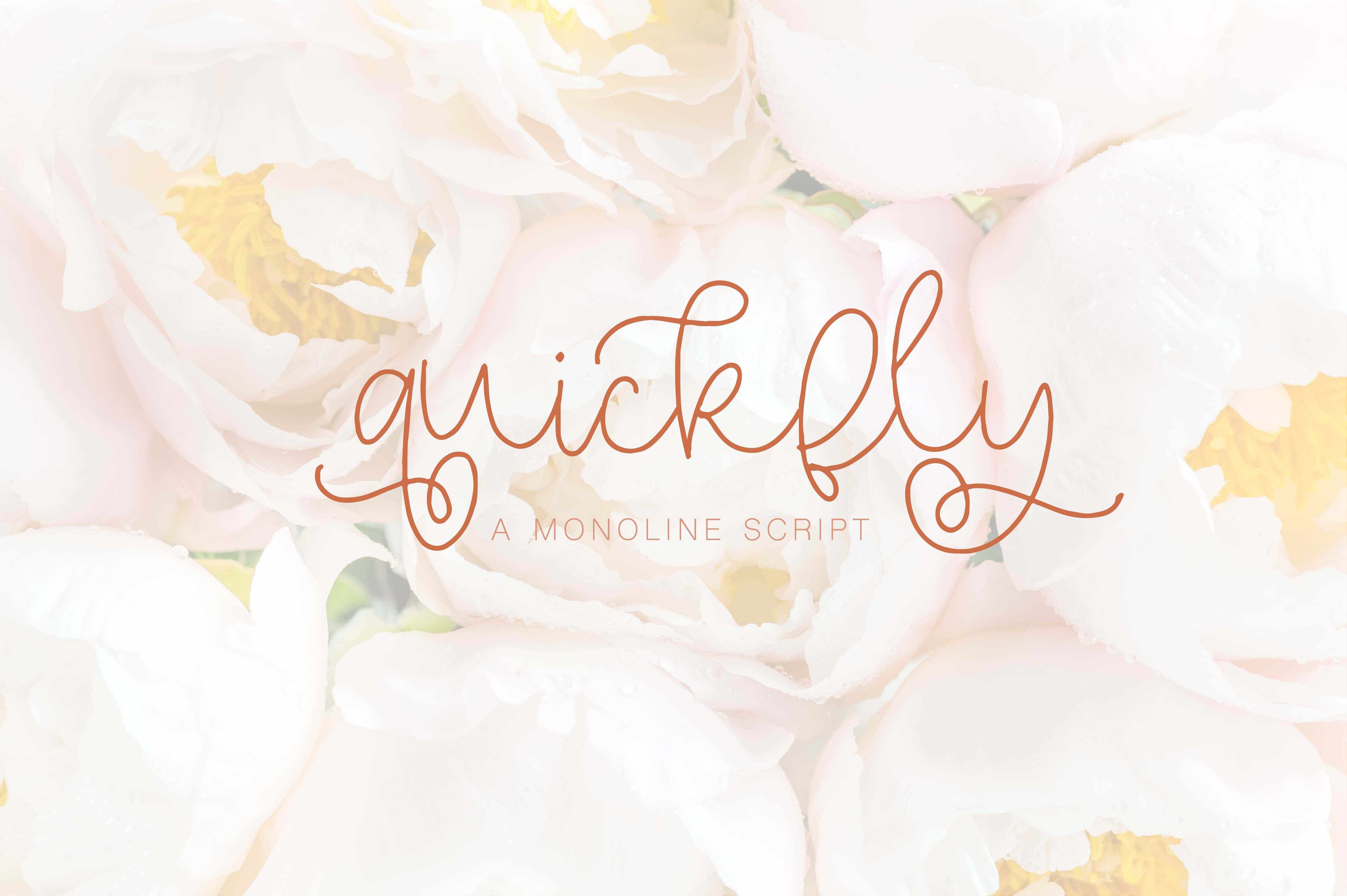 Quickfly - A Monoline Script example image 1