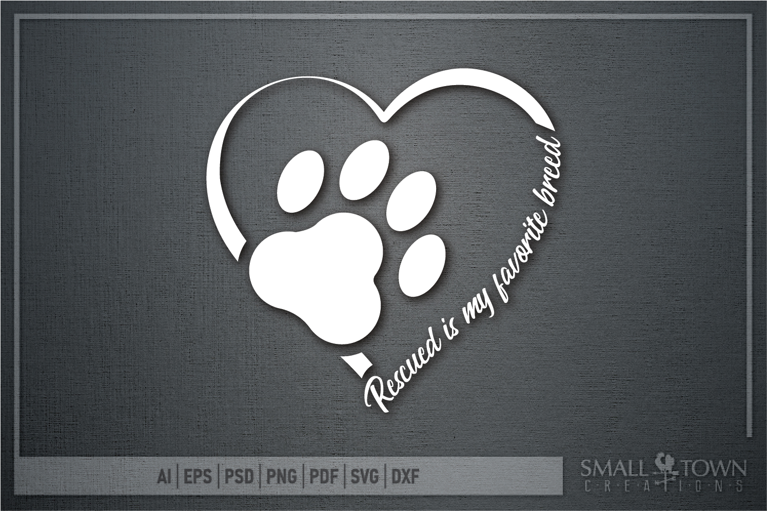 Rescued Dog, Adopted Dog, Dog breed, PRINT, CUT & DESIGN example image 5
