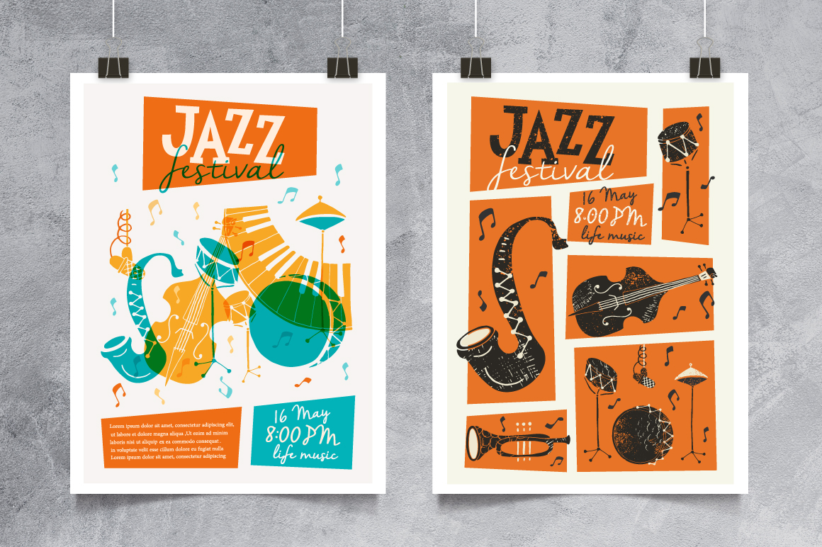 Jazz Music vector collection example image 6