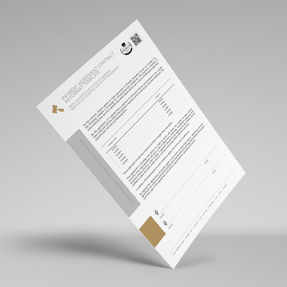 Payment Agreement Contract A4 Format Template example image 3