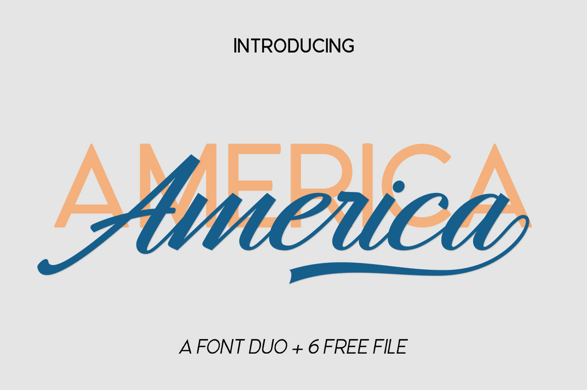 America Font Duo example image 2