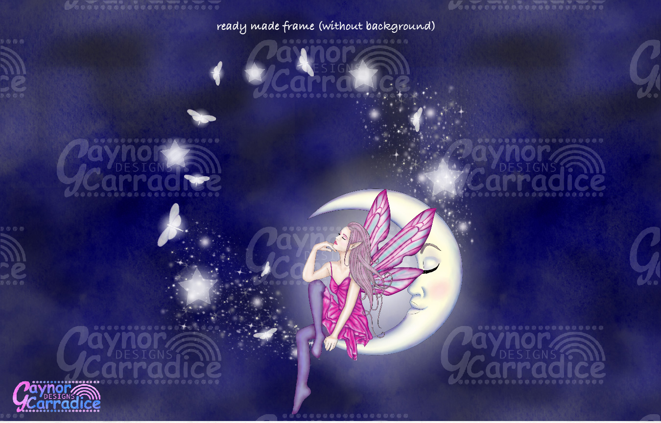 Moonligh Fairy Clipart Collection example image 6