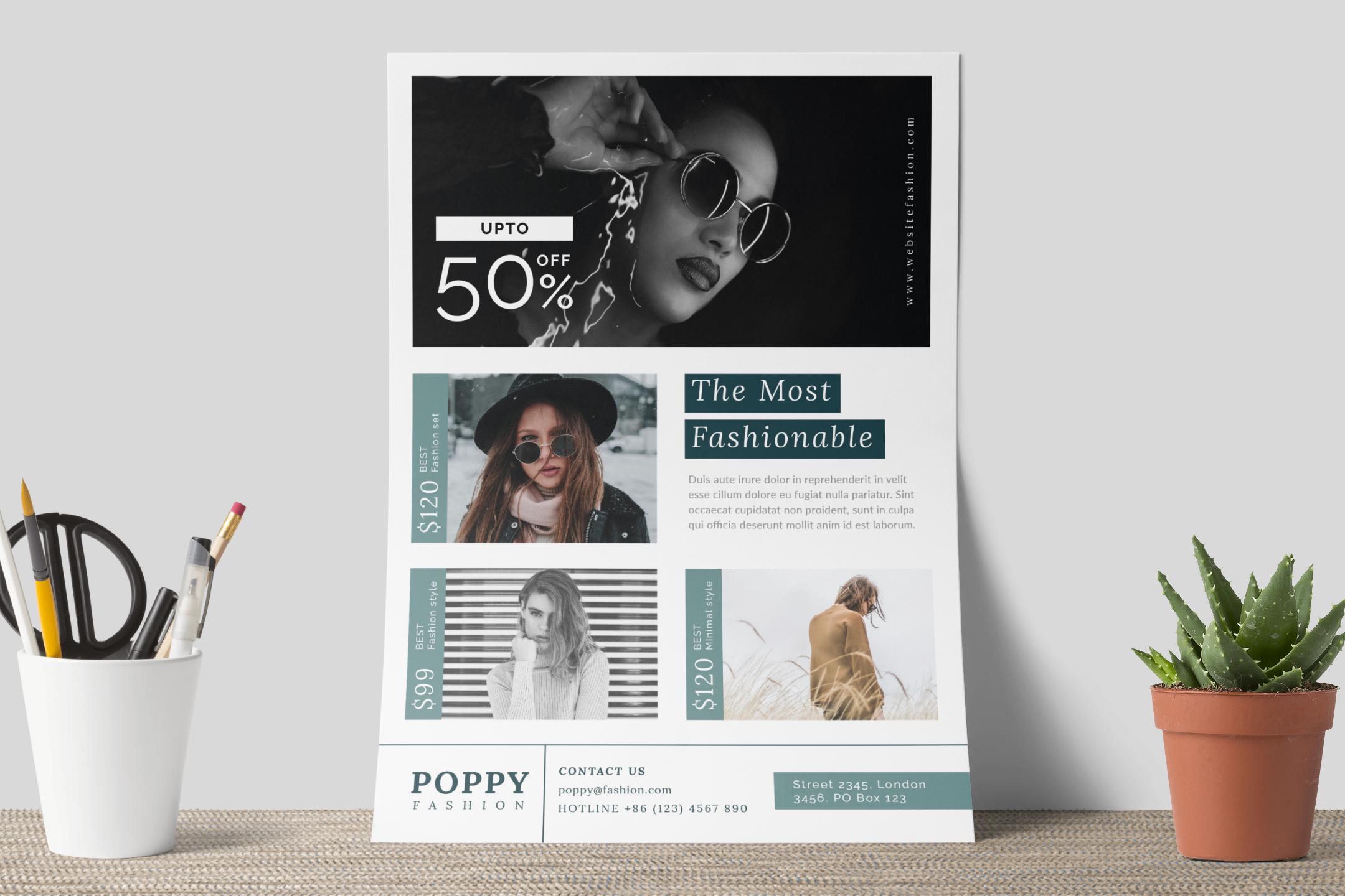 Poppy - Fashion flyer example image 9