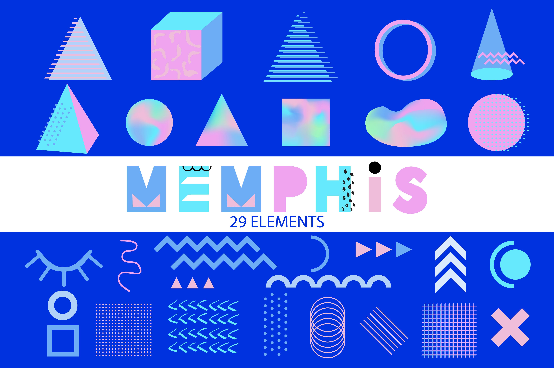Vector Memphis Elements example image 1