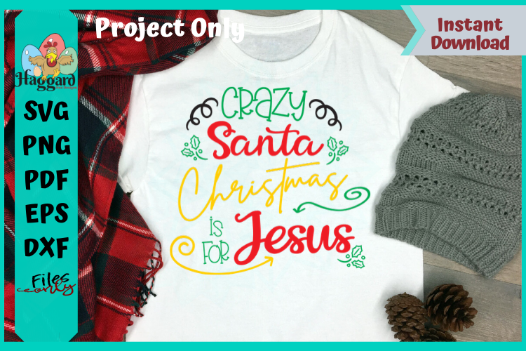 Crazy Santa Christmas is for Jesus example image 1