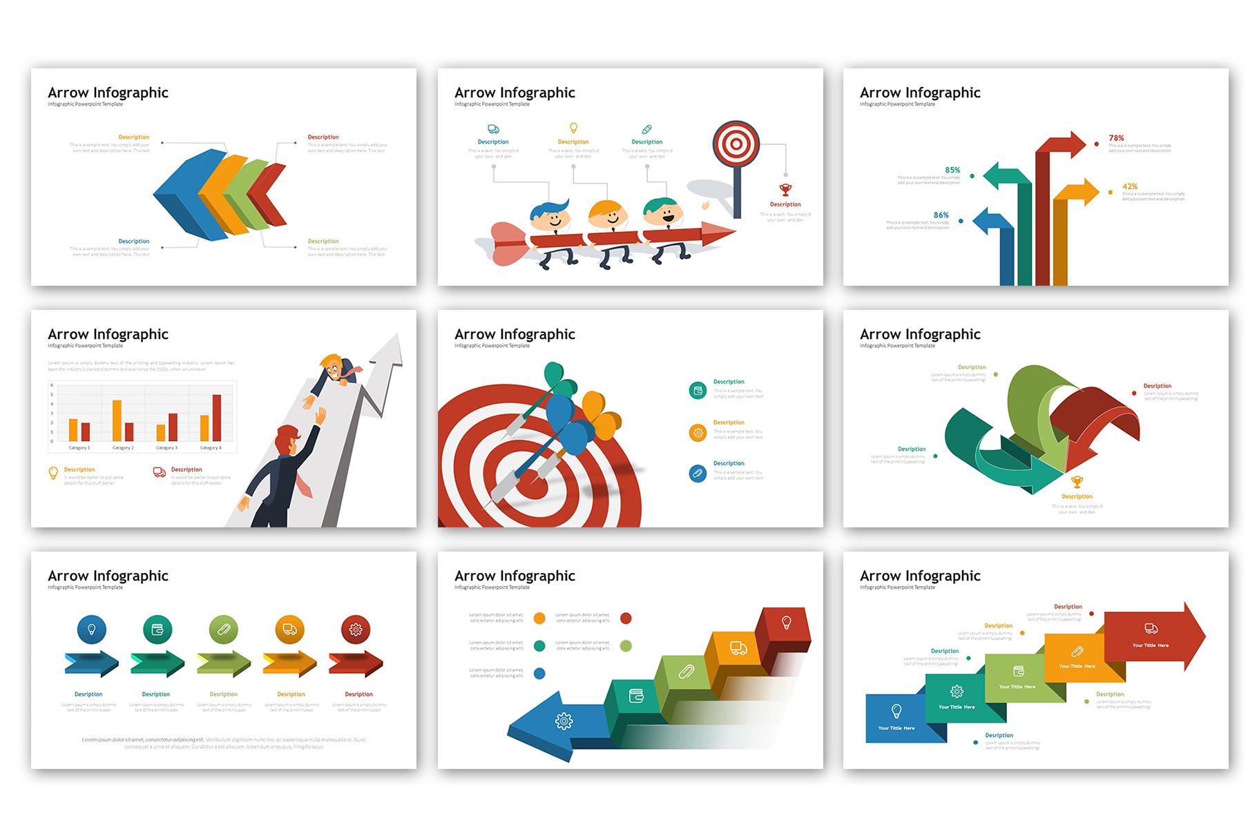 Arrow Presentation - Infographic Template example image 3