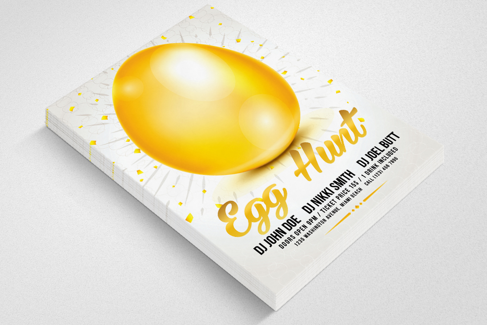 Easter Egg Hunt Flyer Print Template example image 3
