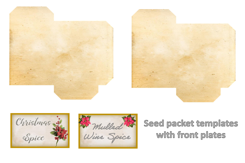 Winter Garden Backgrounds with Free Ephemera. Journaling Kit example image 7