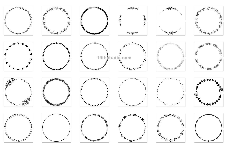 100 Wreaths and Circles SVG Bundle -VB example image 2