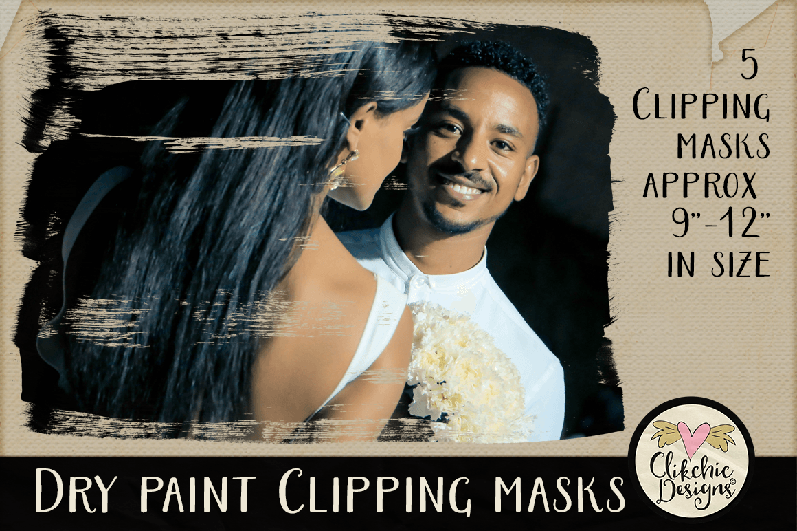 Dry Paint Photoshop Clipping Masks & Tutorial example image 4