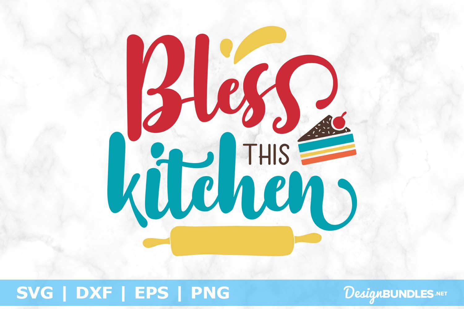Bless This Kitchen SVG File example image 1