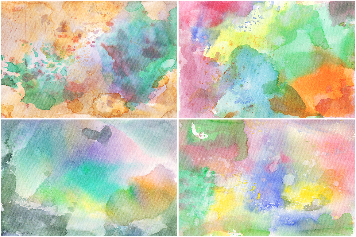 20 Watercolor Backgrounds 01 example image 6