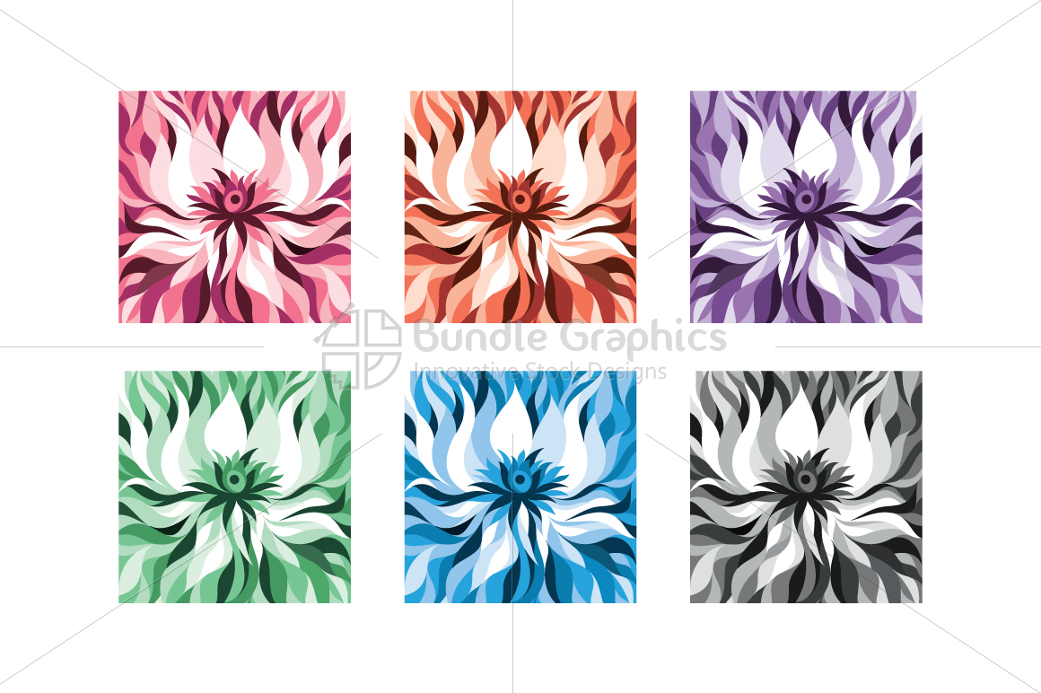 Lotus Flower Abstract Monotone Background example image 1