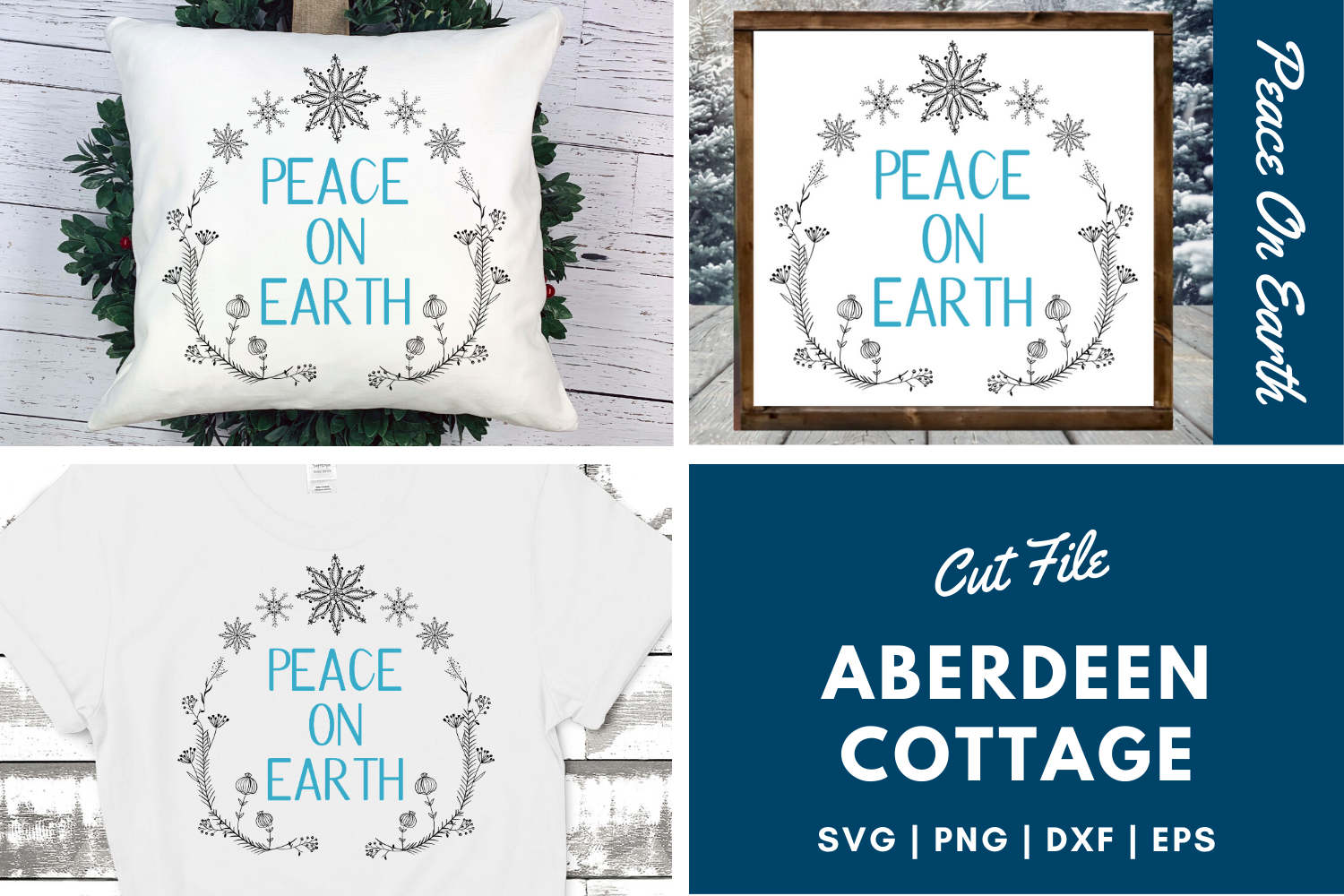 Peace On Earth 3 SVG | PNG | DXF | EPS example image 1