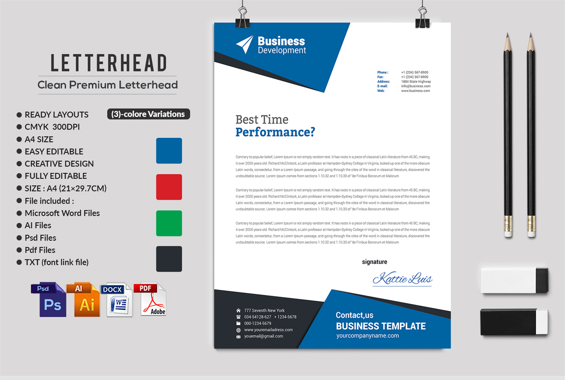 12 Clean Rsume Invoice and Letterhead Bundle example image 17