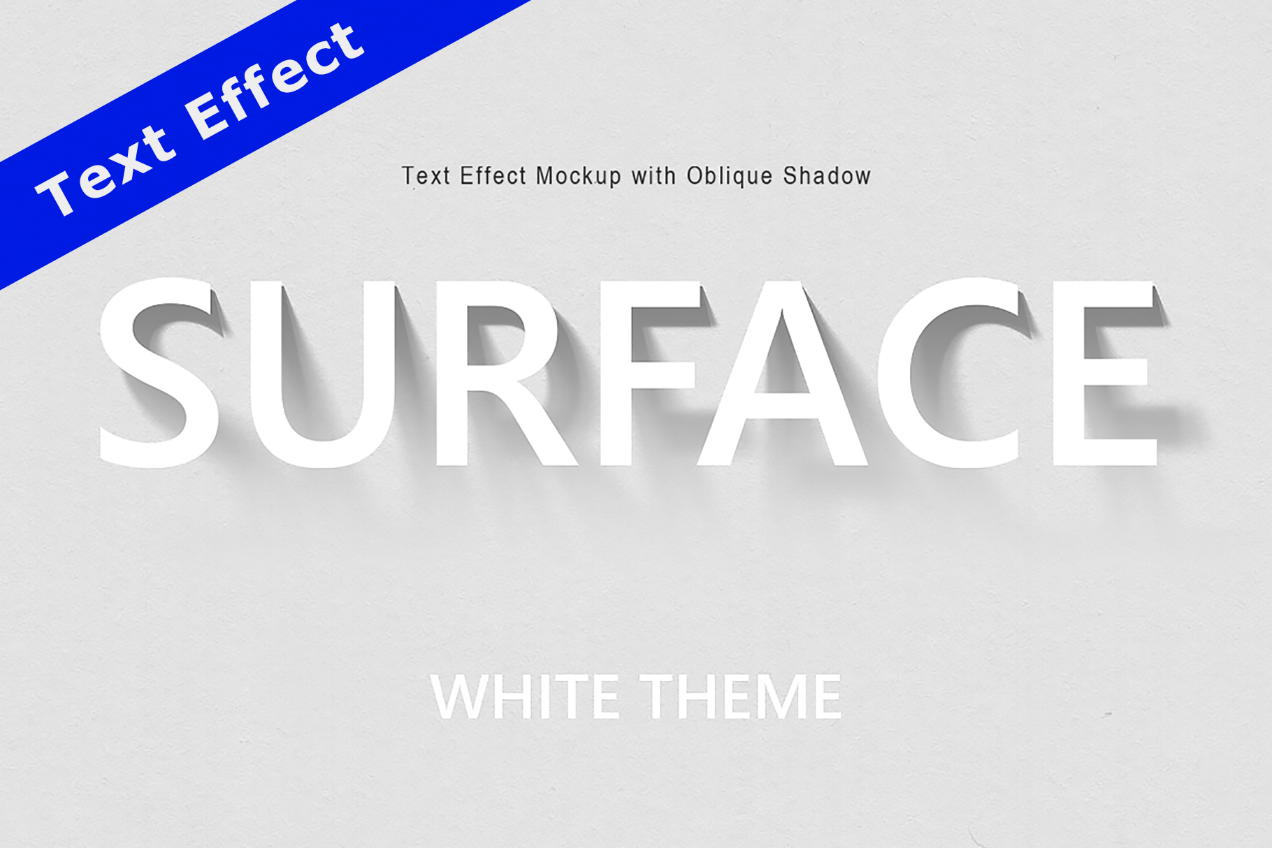 Text Effect Mockup with Oblique Shadow example image 1