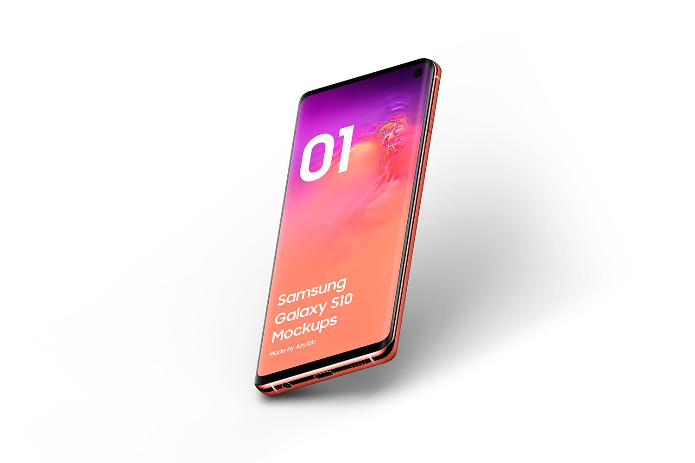 Samsung Galaxy S10 - 21 Mockups - 5K - PSD example image 20