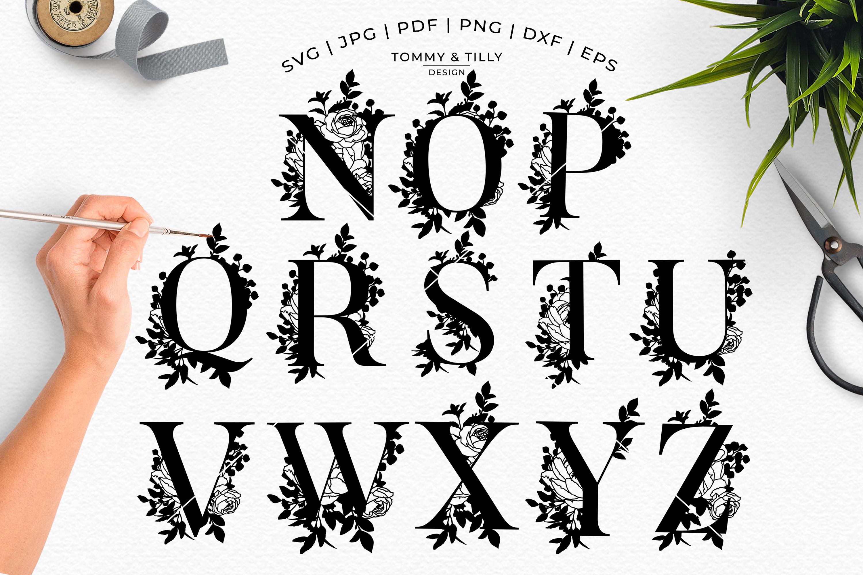 MEGA BUNDLE! 6 x Alphabet Cut Files - SVG | Papercut example image 4