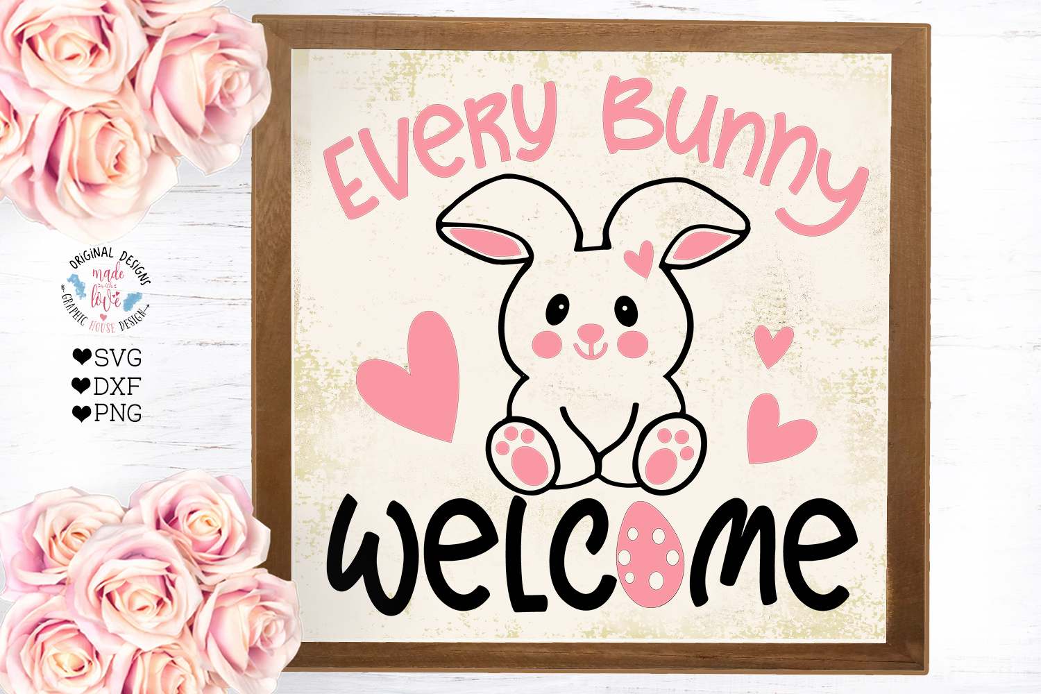 Every Bunny Welcome - Easter Cut File example image 2