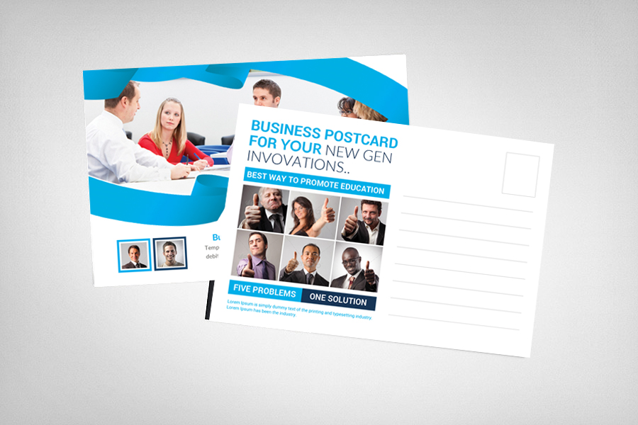 Smart Business Postcard Template example image 2