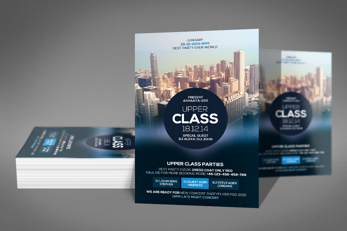 Upper Class Party Flyer example image 2