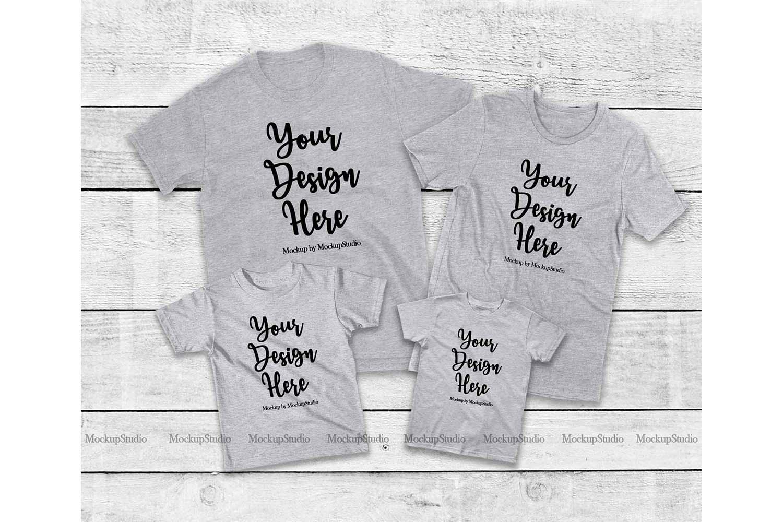 Family Tshirt Mockup Bundle, Kids Shirt Mock Up Bundle Set example image 4