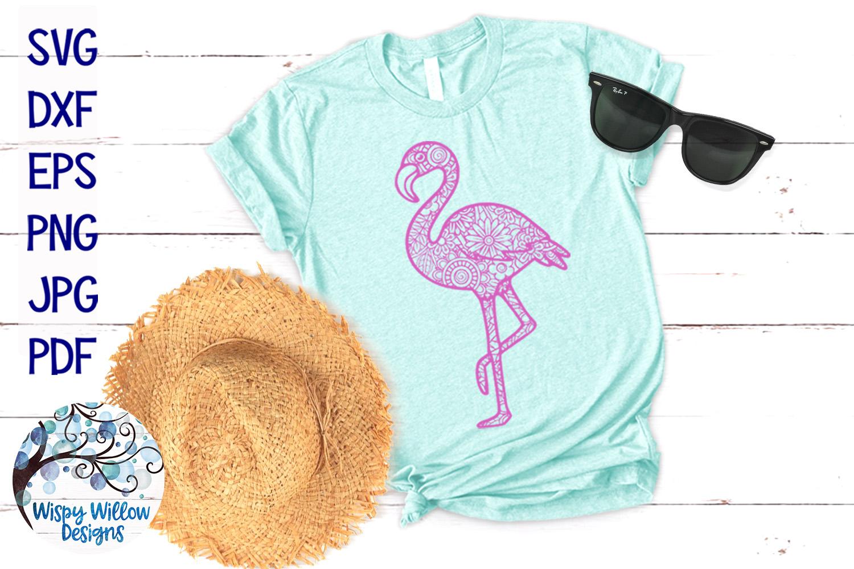 Flamingo Zentangle SVG example image 2