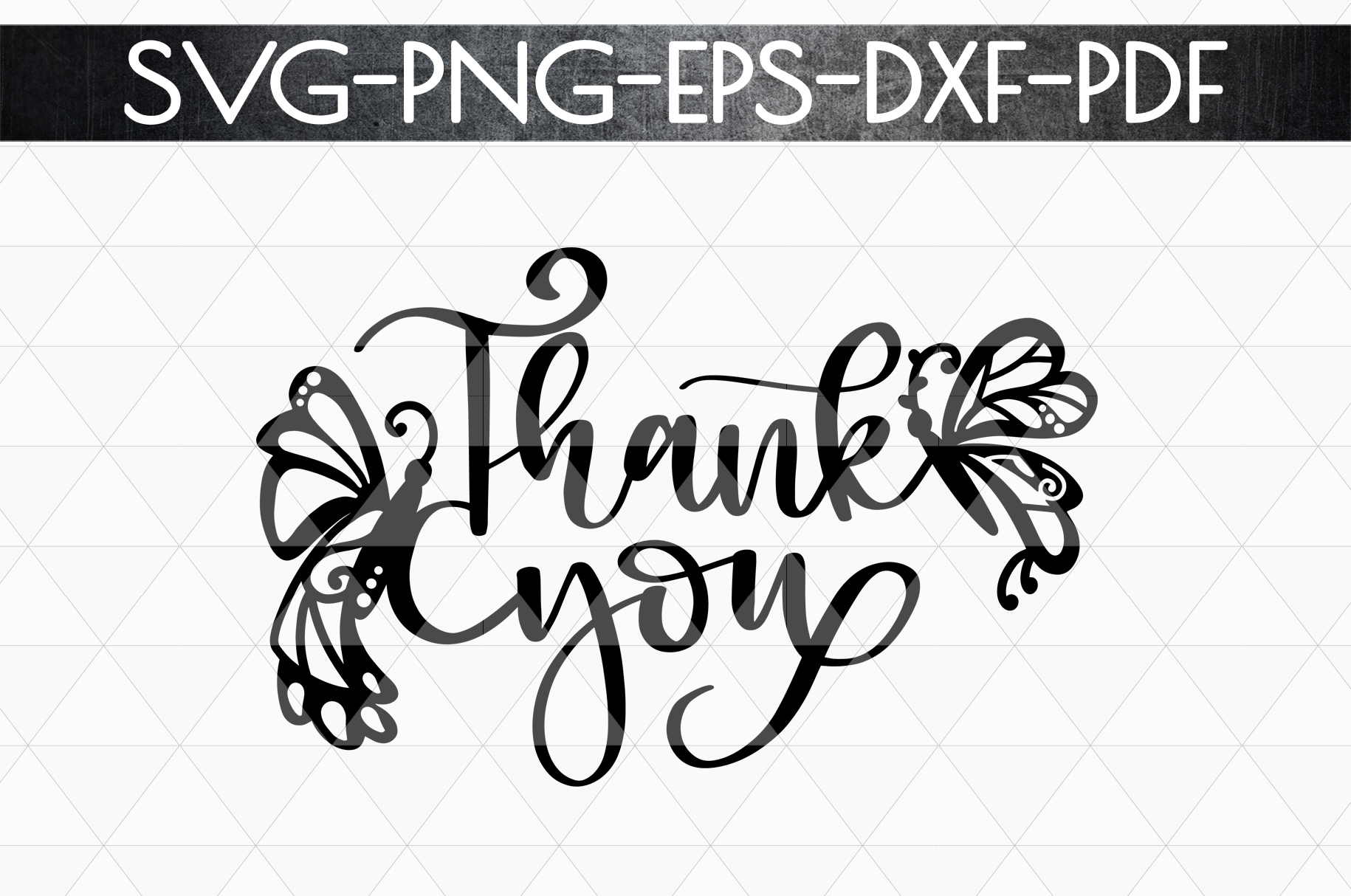 Thank You 4 Papercut Template, Spring Appreciation SVG, PDF example image 5